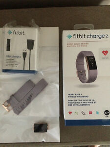 Fitbit Charge 2 - Rose gold/lavender small