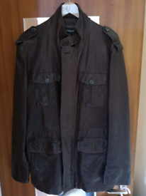 Dark brown leather jacket - very high quality