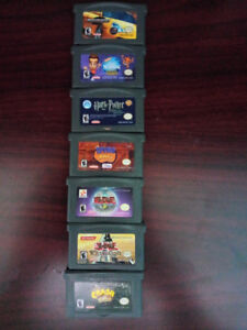 7 Gameboy advance games for sale