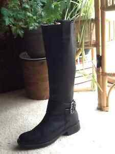 Tall leather boots, $60.00