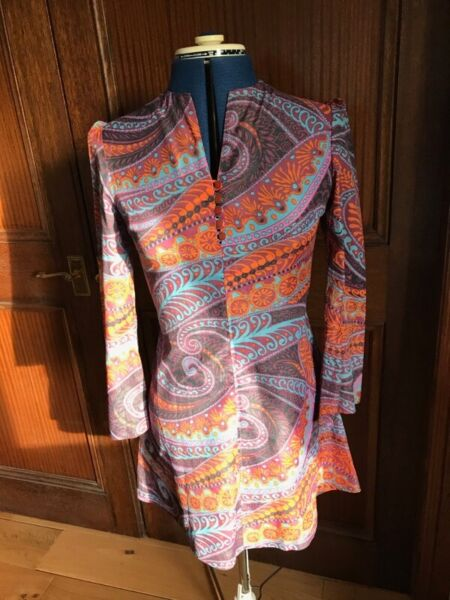 Original 60's mini dress with flared sleeves