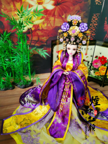 """Handmade Chinese Queen Costume Doll 12"""" Ancient Outfit Gift Limited Collection"""