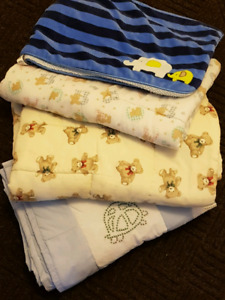 4 gorgeous baby boy blankets