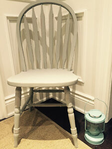 Solid Oak Spindle Windsor Kitchen Dining Side Chairs Shabby Chic