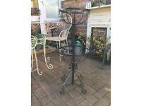 2 tier metal garden planter