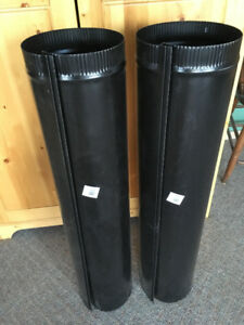 Black Stove Pipe - NEW - (2)