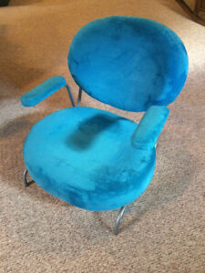 Blue Velvet Kids Chair
