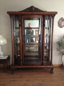 Beautiful Early Victorian Antique Cabinet circa 1840's