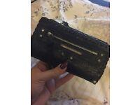 Black, quirky River Island purse!