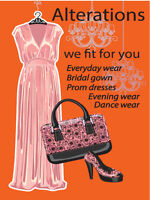 Alteration for wedding gown, evening and everyday clothes