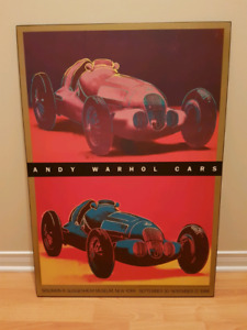 Affiche laminé Andy Warhol Cars 1988