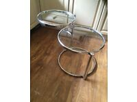 Art Deco style rotating glass side table
