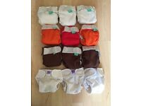 Newborn cloth nappy set - perfect for when baby is too small for birth to potty nappies