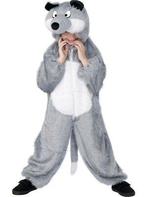 Smi - Karneval Kinder Kostüm Wolf Overall als Tier verkleiden Gr.5-8 Jahre ()