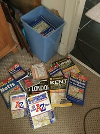 Map books, approx 36,all uk