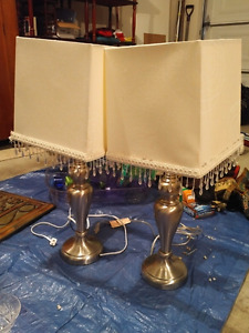 Matching Bedside Lamps