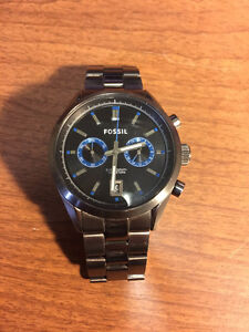 Fossil Del Rey Chronograph Smoke Stainless Steel