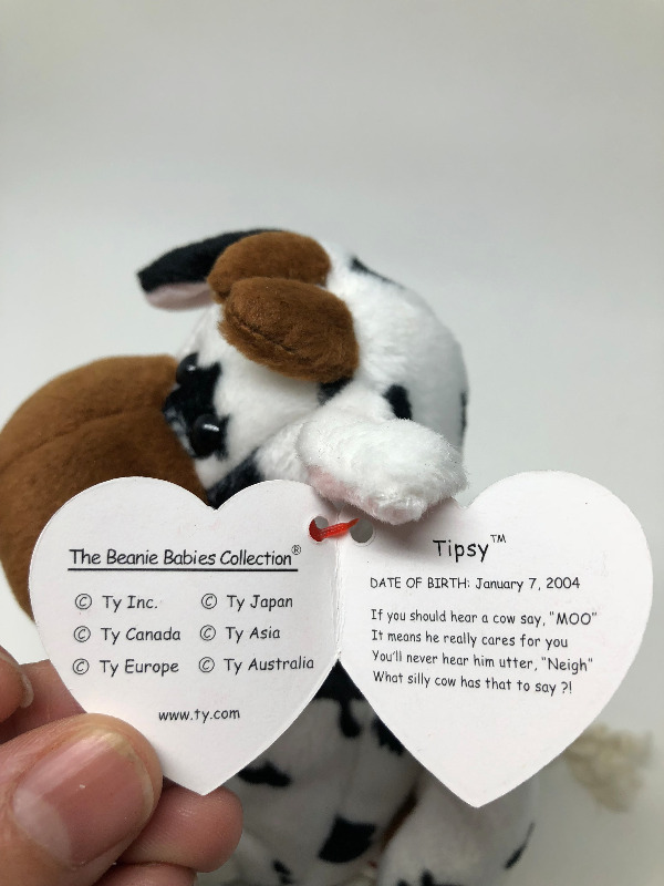 Description. Tipsy the Cow TY beanie baby ... 3041d5265f14