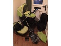 Unisex Silver Cross Lime Green Pioneer With Silvercross Simplicity Car Seat