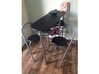 Breakfast bar table with 2 chairs