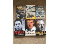 X6 hardback foot x autobiography's Pele Gazza Robbie fowler