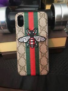 IPHONE X Gucci-01 Case Cover Emroidery all designs Available