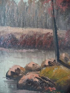 New England Fantasy Oil Painting by Joseph Collazzi 1930's Stratford Kitchener Area image 2