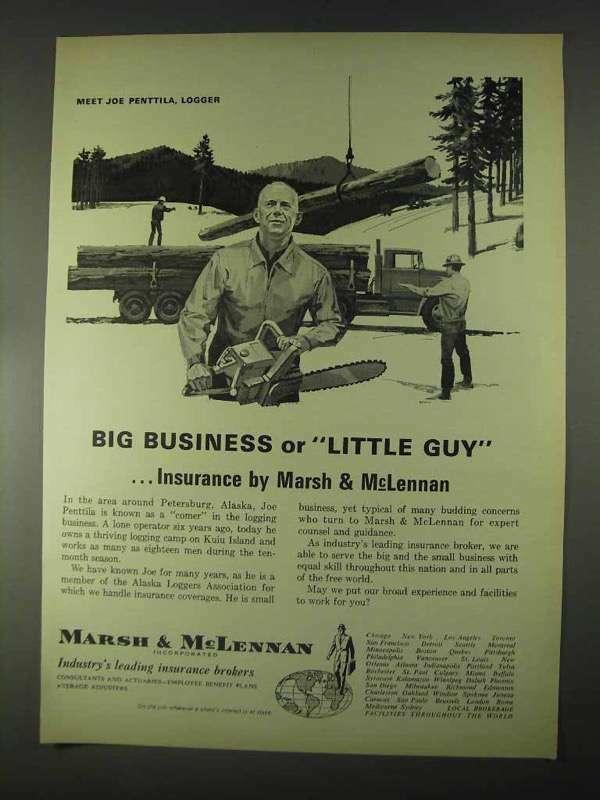 1967 Marsh & McLennan Insurance Ad - Big Business