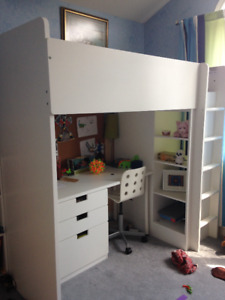 Twin Loft Style Kids Bed - With Armoire