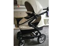 Mima kobi double pushchair in White all extras