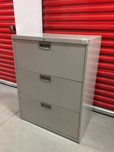 Steelcase 3 Drawer Lateral Filing Cabinet w/ Key Delivery Avail