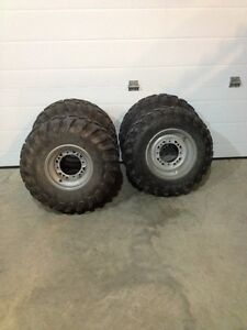 Set of 4 tires and rims combo for Polaris