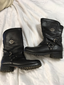 Harley Davidson Ladies Leather Boots - Size 11