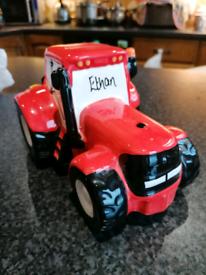 Ethan tractor moneybox.