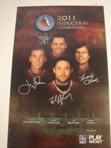 2011 Hockey-Hall-of-Fame Induction Ceremony Autographed Poster