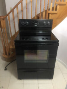 Whirlpool self clean smooth glass top stove for sale