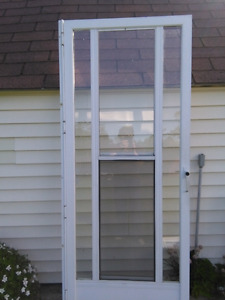 Aluminun white door