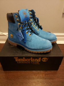 """Limited Edition Timberland 6"""" Boots - Blue - Men's Size 9"""