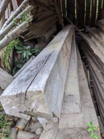 25 year aged oak beams 3-4m long