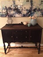 Vintage Solid Wood Sideboard/Buffet/ Tv Stand