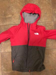 Kids lined Northface rain jacket