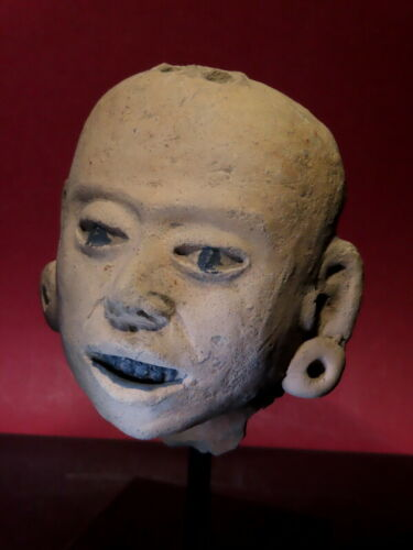 pre columbian offering face head ceramic w/ TL test Huaxtec Totonac Mayan