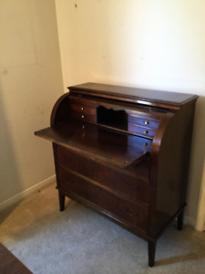 Antique Secretary Roll Top Desk