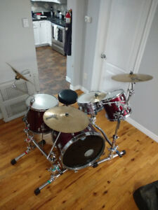 Drum and cymbal stands. Gibraltar stealth series + booms