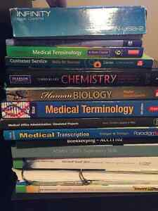 Textbooks: Pre-Health(College) and Office Admin. Medical