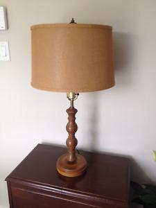 Lampe de Table en Bois ** VINTAGE ** Wood Table Lamp