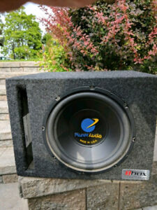 """Planet Audio subwoofer 10"""" in a ported box"""