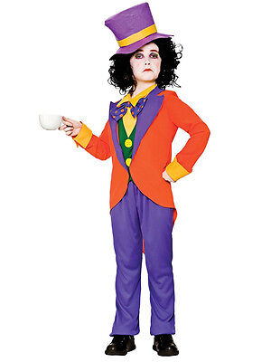 Boys Mad Hatter Costume Kids World Book Day Week Fancy Dress Alice - Mad Hatter Kostüm Boy
