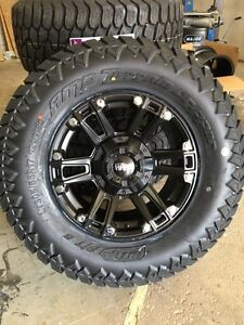 Ruffino Renegade II 17x9 JEEP wrangler Rubicon wheel package 5 rims 5 tires