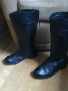Ladies Black Leather Boots